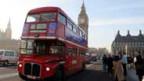 Ein Routemaster-Doppeldecker in London