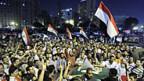 Unterstützung für Präsident Mursi auf dem Tahrirplatz in Kairo