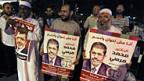 Unterstützung für Präsident Mursi vor dem Präsidentenpalast in Kairo