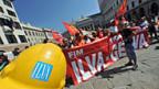 Proteste gegen drohende Ilva-Schliessung in Taranto