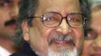 V.S. Naipaul am International Festival of Indian Literature in New Dehli am 18. Februar 2002