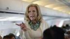 Ann Romney auf dem Flug nach Tampa am 28.8.2012