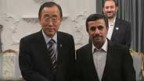 Ban Ki moon und Ahmadinejad am 29.8.2012 in Teheran