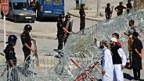 Schutz für die US-Botschaft in Tunis, am Freitag, 14. September.