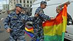 Polizeieinsatz gegen Aktivisten für Schwulenrechte, 27. Mai 2012 in Moskau