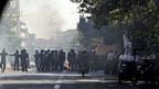Razzia gegen fliegende Geldhändler in Teheran am 3. Oktober