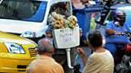 Bereits am Sonntag gab es Proteste gegen den Besuch der deutschen Bundeskanzlerin