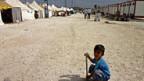 Flüchtlingslager an der türkisch-syrischen Grenze.
