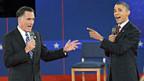 Mitt Romney und Barack Obama beim zweiten TV-Duell am Dienstag.