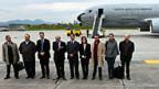 Team der kolumbianischen Regierung vor der Abreise nach Oslo.
