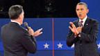 Mitt Romney und Barack Obama im zweiten TV-Duell.