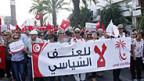 «Nein zu politischer Gewalt» steht auf dem Transparent einer Protestkundgebung am 22. Oktober in Tunis