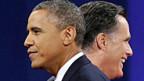 Barack Obama und Mitt Romney am Ende der letzten TV-Debatte.