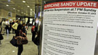 Nicht nur Züge und U-Bahnen fahren an der US-Ostküste nicht mehr - auch die europäische Börse reagiert auf «Sandy»