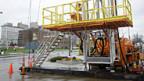 Schiefergas-Boom. Anlässlich einer Messe wurde in Youngstown ein Bohrturm aufgestellt.