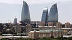 Die Flammentürme, das neue Symbol der aserbeidschanischen Hauptstadt Baku.