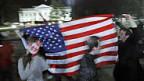 Obama-Anhänger feiern vor dem Weissen Hous in Washington.
