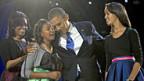Vier weitere Jahre im Weissen Haus: Familie Obama.