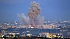 Rauch über Gaza Stadt - nach israelischen Raketenangriffen.