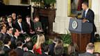 US-Präsident Obama stellt sich am 14. November im Weissen Haus den Fragen der Medienleute.