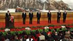 Sieben neue Männer an der Spitze von Chinas KP. Links Generalsekretär Xi Jinping.