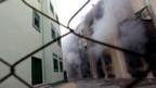 Zerstörte Häuser in Gaza City