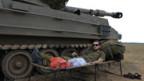 Der israelische Soldat scheint erleichtert über den Waffenstillstand