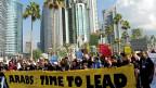 Arabische Jugendliche fordern mehr Engagement im Klimaschutz, 1. Dezember in Doha.