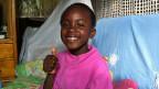 Die siebenjährige Anke in ihrem Zuhause.