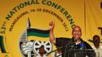 Der süafrikanische Präsident Jacob Zuma am Kongress des African National Congress ANC.