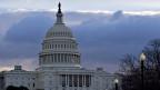 Die Wolken über dem Capitol in Washington hängen tief.