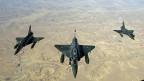 Drei Mirages 2000 D der französischen Luftwaffe auf dem Weg zu ihrem Einsatz in Mali.