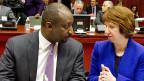 Malis Aussenminister Coulybaly hat in Brüssel die EU-Aussenbeauftragte Ashton getroffen.