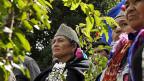 Mapuche-Indianer an einer Zusammenkunft am 16. Januar; sie fordern, dass die chilenische Regierung sich entschuldigt.