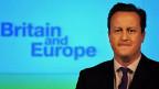 Der britische Premier David Cameron während seiner Rede über das britische Verhältnis zur EU.
