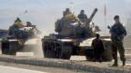Türkische Soldaten während eines Einsatzes.
