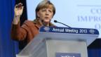 Bundeskanzlerin Angela Merkel am WEF 2013.