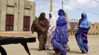Eine Strasse in Timbuktu; die Bevölkerung hofft mit ihrem Bürgermeister auf Versöhnung.