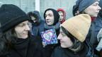 Demonstration für mehr Rechte für gleichgeschlechtliche Paare, am 25. Januar vor der Duma in Moskau