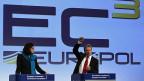 Am Hauptsitz von Europol in Brüssel.