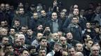 Versammlung streikender Arbeiter in Athen.