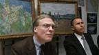 Lukas Gloor (l.), Direktor der Sammlung E. G. Bührle und Polizeisprecher Mario Cortesi informieren die Medien