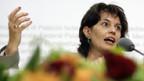 Bundesrätin Doris Leuthard spricht über eine Agrarabkommen mit der EU.