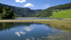 Der Doubs in der Nähe von Biaufond im Kanton Jura.