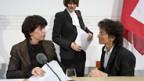 Von links: Die Bundesrätinnen Leuthard, Calmy-Rey u. Widmer-Schlumpf.