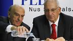 Die FDP-Bundesräte Merz und Couchepin.