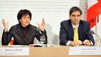 Bundesrätin Doris Leuthard (l.) und Seco-Chefökonom Aymo Brunetti.