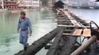 In der Nacht vom 18. August 1993 brannte die Kapellbrücke in Luzern.