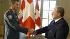 Roland Nef (l.) und Bundesrat Samuel Schmid.