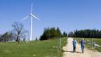 Windkraftwerk auf dem Mont Crosin im Berner Jura